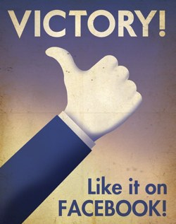 Victory! Like it on Facebook!